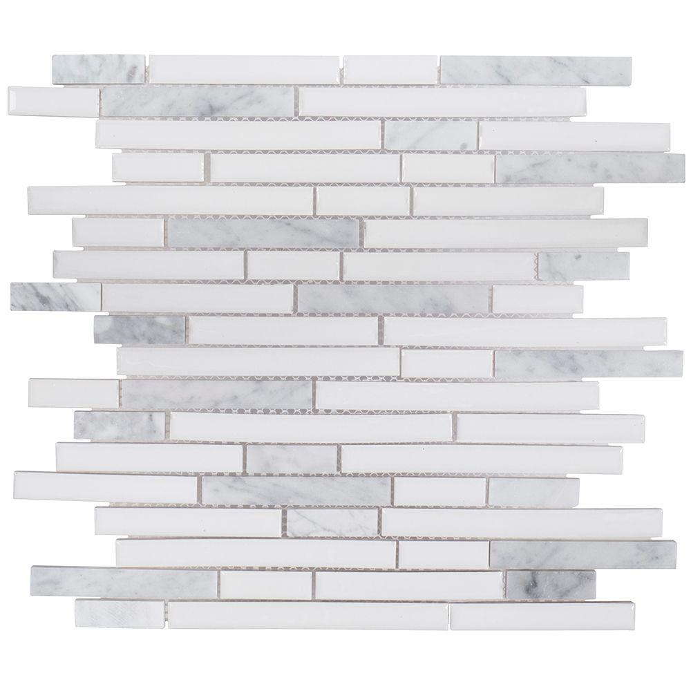 Jeffrey Court Sugar Cane 11-1/2-inch x 11-7/8-inch x 8 mm Ceramic Mosaic Tile