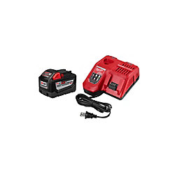 M18 18V Lithium-Ion High Demand (HD) 9.0 Ah REDLITHIUM Battery and Rapid Charger Starter Kit