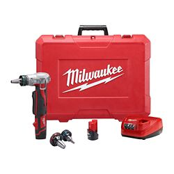 Milwaukee Tool M12 12V Lithium-Ion Cordless ProPEX Expansion Tool Kit W/ (2) 1.5Ah Batteries & Hard Case