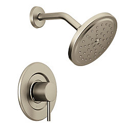 Align 1-Handle trol Shower Faucet Trim Kit in Brushed Nickel (Valve Sold Separately)
