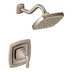 Kit de garniture de robinet de douche à 1 jet en nickel brossé pour poignée simple Voss trol (valve vendue séparément)