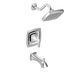 Voss Kit de garniture de baignoire et de robinet de douche pour baignoire trolley à 1 poignée simple en chrome (valve vendue séparément)