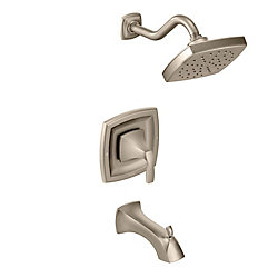 Voss 1-Handle 1-Spray trol Tub and Shower Faucet Trim Kit in Brushed Nickel (Valve Sold Separately)