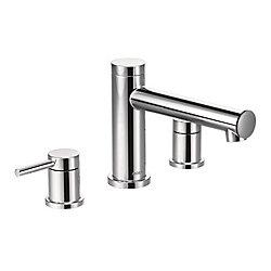 MOEN Alignez le kit de garniture de robinetterie de baignoire romaine en chrome (valve non incluse)