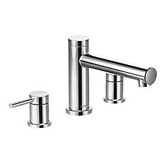 Align Two-Handle Non Diverter Roman Tub Faucet In Chrome (Valve Sold Separately)