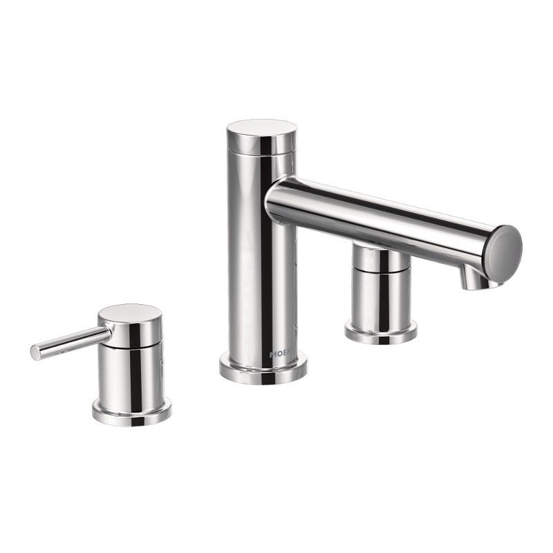 Moen Align Two-Handle Non Diverter Roman Tub Faucet In Chrome (Valve Sold Separately)
