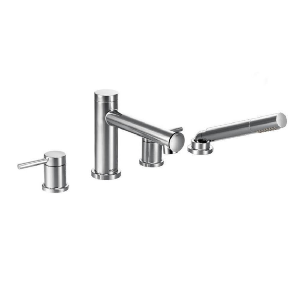 Moen Align 2-Handle Deck Mount Roman Tub Faucet Trim Kit with Hand shower in Chrome