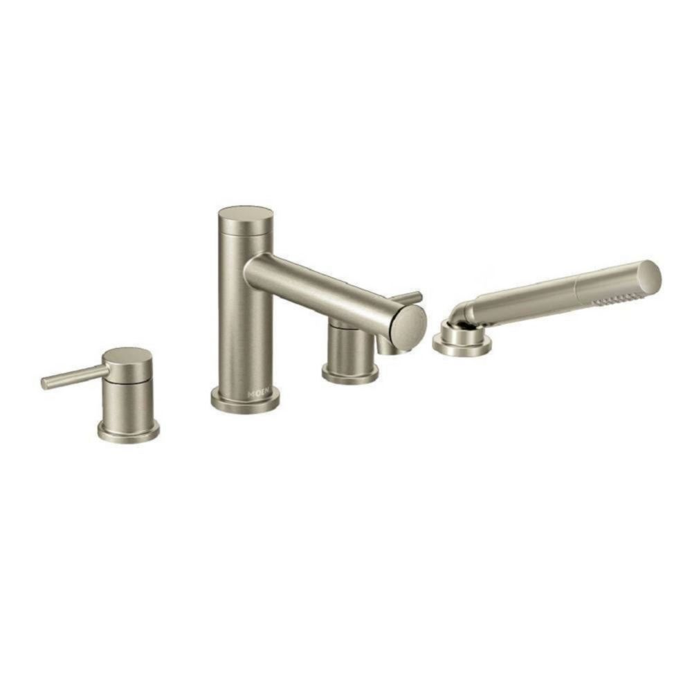 Moen Align 2-Handle Deck Mount Roman Tub Faucet Trim Kit with Hand shower in Brushed Nickel