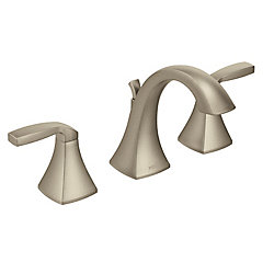 Voss 8-Inch Widespread 2-Handle Bathroom Faucet Trim Kit in Brushed Nickel (Valve Sold Separately)