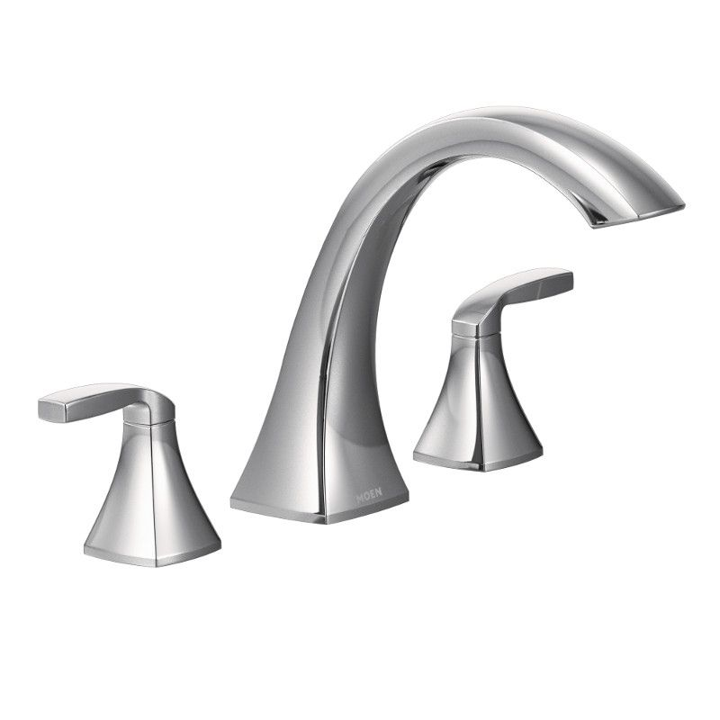 contemporary bathtub mounted faucet waterfall wall faucets curve spout finish tub chrome