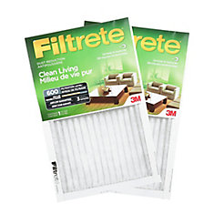 16-po x 25-po x 1-po Filtre antipoussière MPR 600 «Milieu de vie pur» FiltreteMC(2-pqt)