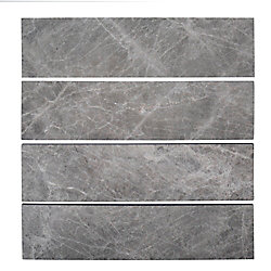 Jeffrey Court 3x12 Field Tundra Grey 10mm Marble 1 sq. ft.