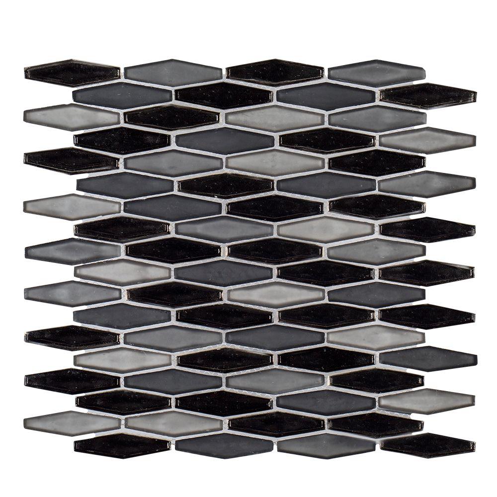 Jeffrey Court 13.125x13.125 Jasper 6mm  Stone Glass Mosaic