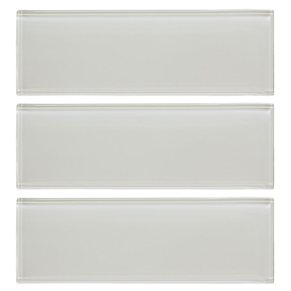 Jeffrey Court Super White 4-inch x 12-inch Glass Wall Tile (3-Pack)
