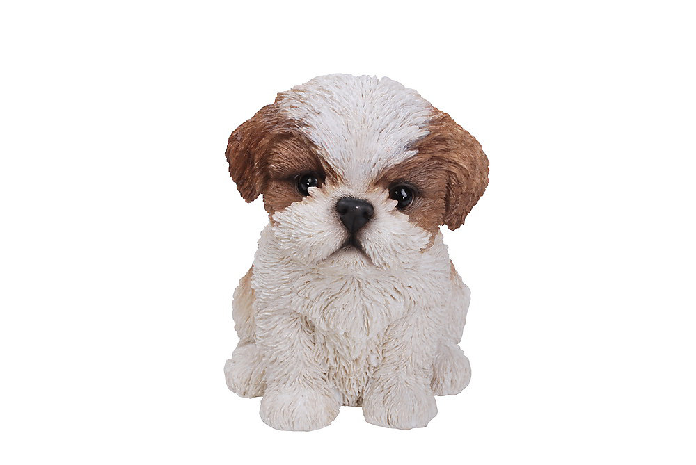 Hi-Line Gift Sitting Shih Tzu Puppy In Brown And White