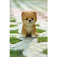 Hi Line Gift Sitting Pomeranian Puppy Statue The Home Depot Canada