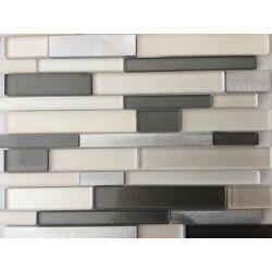MSI Stone ULC Magnetite Interlocking 12-inch x 12-inch x 0.24-inch Mesh Mounted Glass/Metal/Stone Mosaic Tile (15 sq. ft. / case)