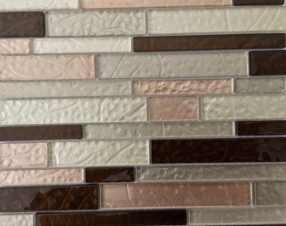 MSI Stone ULC Ayres Interlocking 12  Inch x 12  Inch x 0.24  Inch mesh mounted crystallized glass mosaic tile