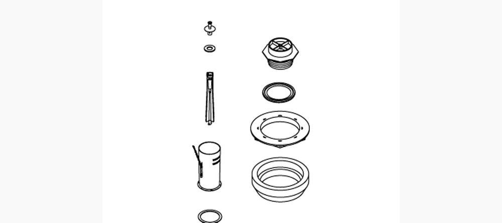 KOHLER Toilet Canister Valve Assembly Service Kit