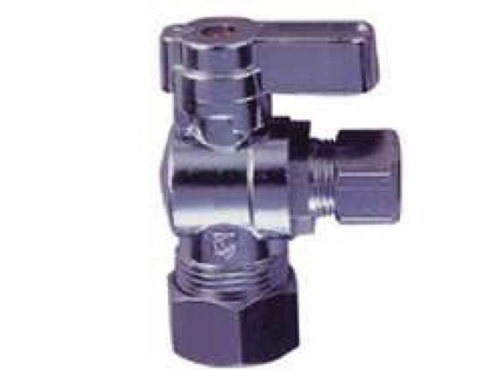 Jag Plumbing Products 1/4 Turn Ball Valve 5/8 Inch OD x 3/8 Inch od Comp Angle Stop (10 Pack)