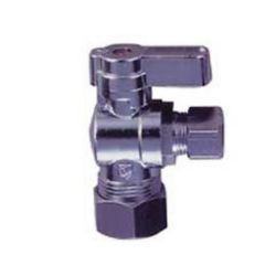 Jag Plumbing Products 1/4 Turn Ball Valve 5/8 Inch OD x 3/8 Inch od Comp Angle Stop (10-Pack)