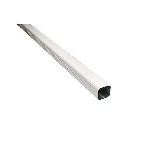 Aluminum Downpipe 3 inch x 3 inch x10 ft. - White