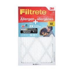 Filtrete Filters 16 inch x 25 inch x 1 inch Dual-Action Micro Allergen Plus 2X Dust defence Filter