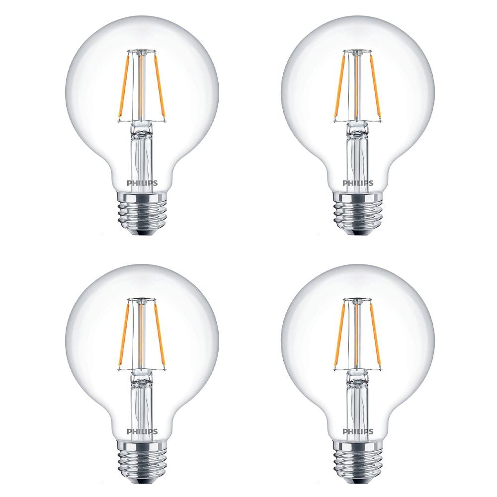 Philips LED 60W G25 Filament Clear - Case of 4 Bulbs