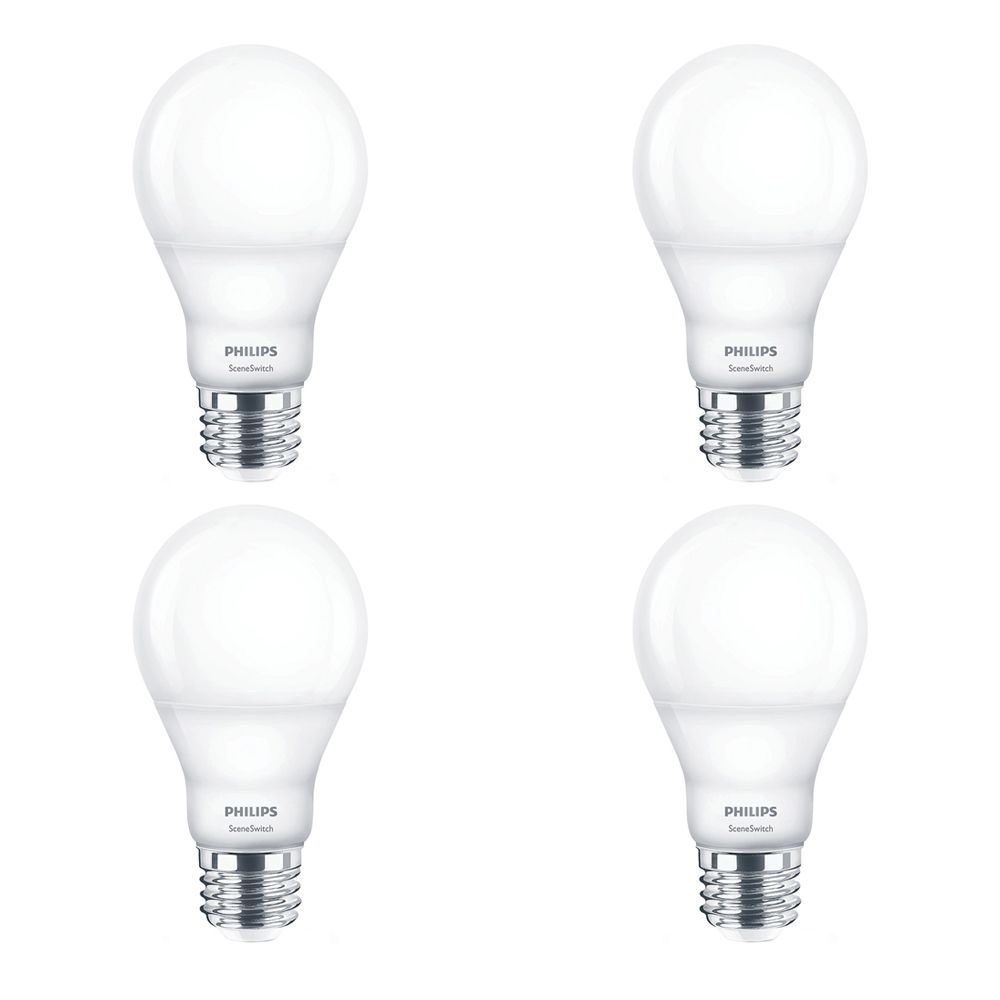 Philips LED 60W A19 Scene Switch Daylight - Case of 4 Bulbs - ENERGY STAR®