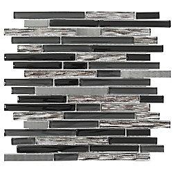 Jeffrey Court 12x12.25 Materialized 8mm Glass Metal Mosaic