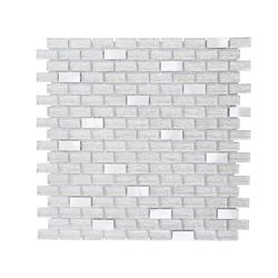 Jeffrey Court Crystal Ice 11.375-inch x 12-inch x 8 mm Glass Mosaic Tile