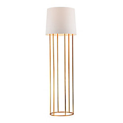 Titan Lighting Barrel 63 inch Frame Floor Lamp in Gold Leaf Finish
