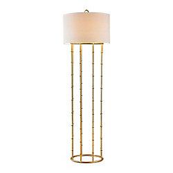 Titan Lighting Brunei 63 Inch 1 Light Floor Lamp In Gold Leaf