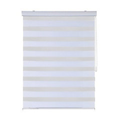 27-inch x 84-inch Sheer Shades with Metal Ball Chain in White