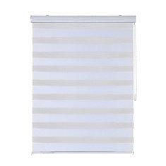 Modern Homes- Store Horizontal Blanc avec Chainette en Metal (40 po x 84 po)