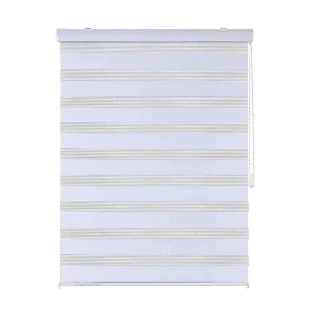 Modern Homes- Store Horizontal Blanc avec Chainette en Metal (48 po x 84 po)