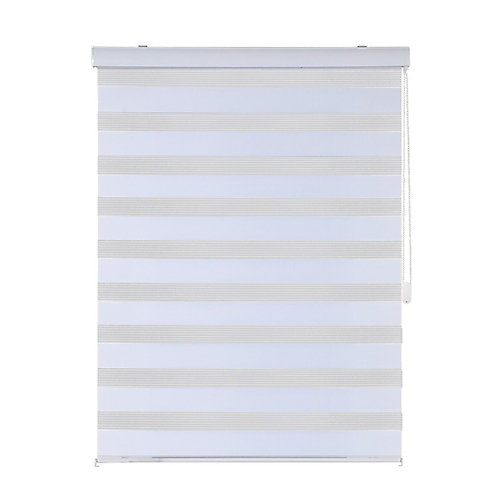 60-inch x 84-inch Sheer Shades with Metal Ball Chain in White