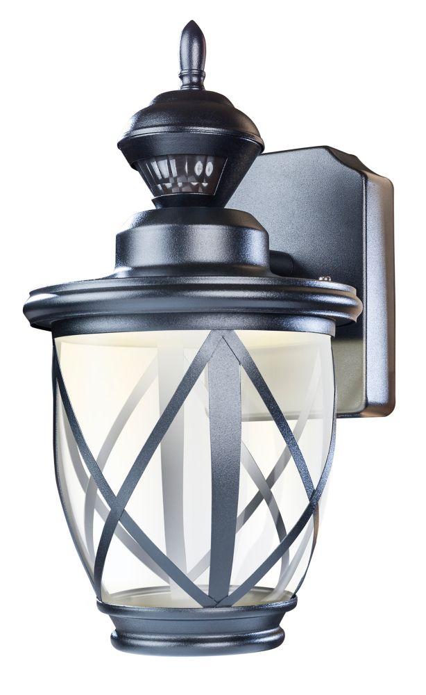 Heath Zenith  150 degré noir LED Motion lanterne mur extérieur activé