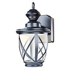 150 Degree Black LED Motion Activated Outdoor Wall Lantern