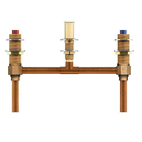 2-Handle 3-Hole Roman Tub 10-Inch Center Rough-In Valve with 1/2-Inch CC Connection