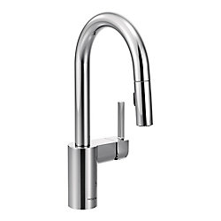 MOEN Align Single-Handle High Arc Pulldown Bar Faucet In Chrome