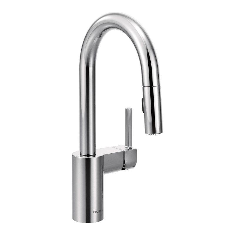 Moen Align Single-Handle High Arc Pulldown Bar Faucet In Chrome