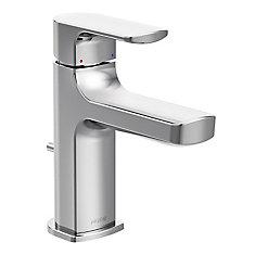 Rizon Robinet de salle de bain chrome à monocommande à petite arche