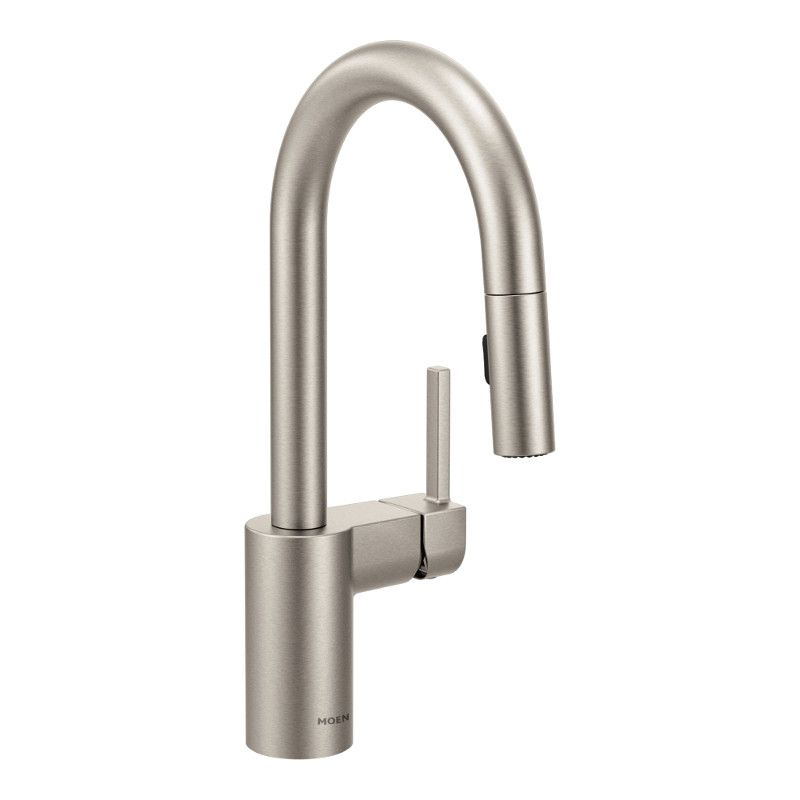 Moen Align Single-Handle High Arc Pulldown Bar Faucet In Spot Resist Stainless