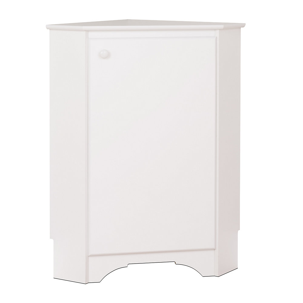 Elite Corner Storage Cabinet in White