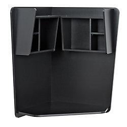 Prepac 42-inch x 40-inch x 27.30-inch Corner Computer Desk in Black