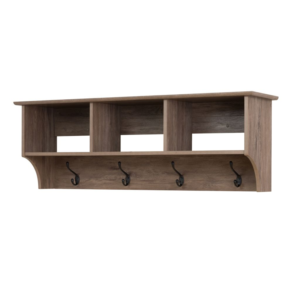 interior shelf hole rack wall cubby mounted shelves hook ideas with holes and rustic coat storage