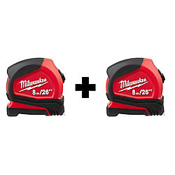 8M / 26 ft. Tape Measure (2-Pack)