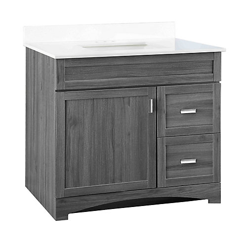 Rocara 37-inch W Vanity Combo with Engineered Stone Top