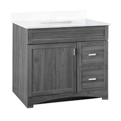 GLACIER BAY Rocara 37-inch W Vanity Combo with Engineered Stone Top
